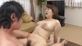 Japanese MILF In A Tiny Red Thong Gets Hardcore Fucked