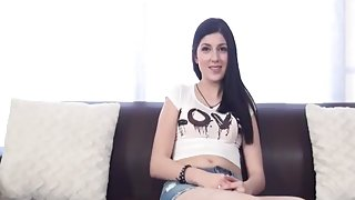 18y old pretty schoolgirl does audition