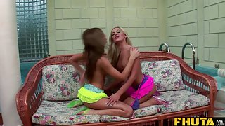 Fhuta Two horny sluts open their holes for a pair of hard dicks