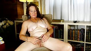 Saggy tits and milky white skin on a cute old lady