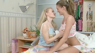 Faina and Ariana are totally ready to do the cock riding together!