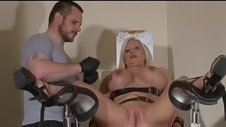 Clinic domination medical fetish of Melanie Moon in pussy stabling punishment and hospital bdsm