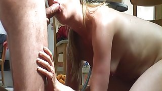 very sensual blowjob and double cumshot