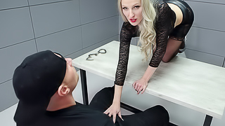 Arrested Mom Fucks For Freedom - Blonde Cougar Threesome
