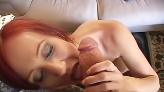Redhead in This Video is Sucking and Fucking for a Cumshot
