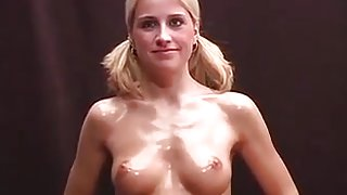 Cute Blonde college girl college girl  With Great Body Gives Blowjob
