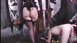Stunning redhead looker enjoys whipping her extremely horny