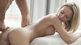 Erotic lovemaking in two scenes with beautiful girls