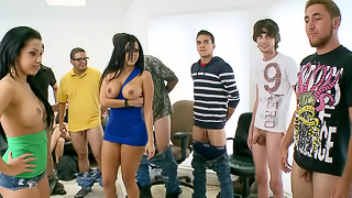 Extremely hot brunettes please amateur boys in passionate way