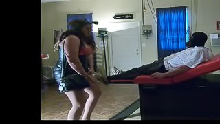 Larry Nasser payback from angry MILF, strap-on, medical play