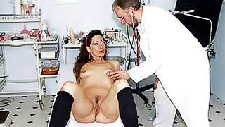 Exquisite Brunette Teen Gets Her Tight Pussy Fucked By an Old Doctor