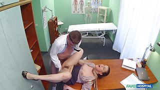 Valentina in Dirty milf nympho gets fucked while her husband waits - FakeHospital