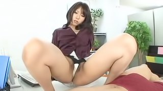 Brunette Asian girl gets her tight cunt pounded by a stranger