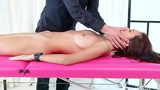 Paula Shy massaged and fingered in a very arousing way