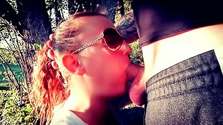 DEEPTHROAT AND FACIAL IN THE FOREST