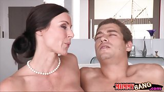 Stepson fucking with stepmom Kendra Lust and his GF Giselle