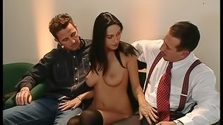 Sexy Latina In Nylon Stockings Yells As She Gets Hammered