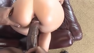 Veronica Jett is fucked by a black monster cock in interracial POV