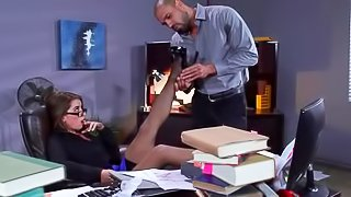Busty business lady is getting fucked