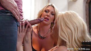 Wife Shares Cock With Another Woman