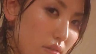Busty Japanese hottie drilled after toying herself