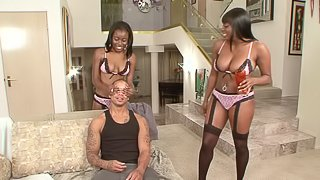 Chocolate Young and Lickable Stylez crave a stud's black boner