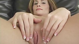 Gorgeous naked milf in a sexy interview
