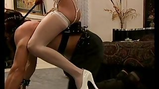 Mistress enjoys pony play with her submissive