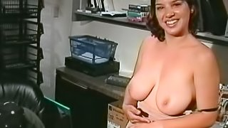 Horny milf in the office is going naughty with her boss
