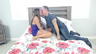 Elexis Monroe enjoys hot sex in bed with her man