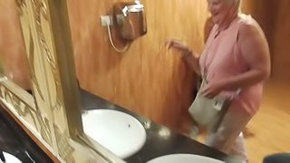 Grandmother surprised by unstoppable ejaculation in public! pornhub
