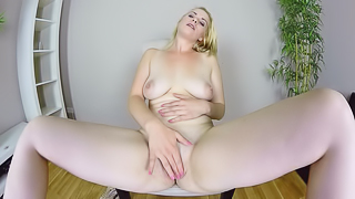 Ebba Sofie Casting - Horny Blonde VR Solo