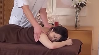 Japanese kind of massage always quickly turns into hard pussy poking