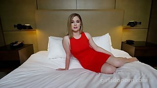 Luscious blonde princess gets shagged on casting
