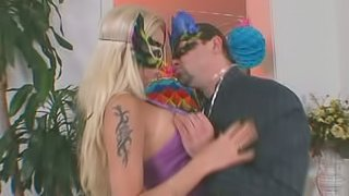 Masked Blond Chick Stacey Silver Getting Her Pussy and Asshole Fucked