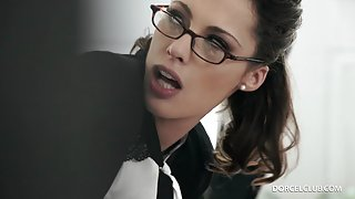 Horny boss decides to drill deep in his luscious secretary