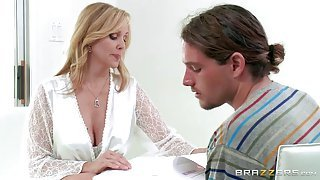 Good-looking mature blonde doctor gets wrecked hard