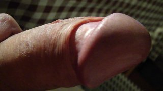 Slow sweet massage of my small wet penis until I cum a little bit 6 times