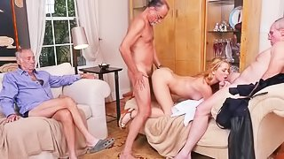 Sexy young saleswoman will do anything