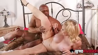 Busty Kagney Linn Karter anallized roughly in interracial