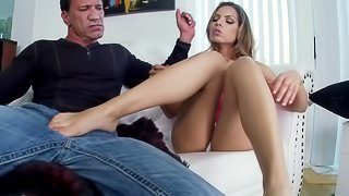 Good looking Latina girl knows how to handle a big pecker