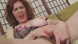 Hairy milf twat is all wet from the vibrator