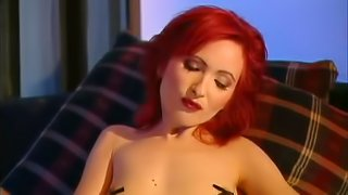 Redhead milf, Evelin, gets fucked from behind after oral sex