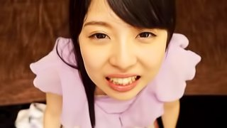 Aoi Rena covered in semen after giving a magnificent blowjob