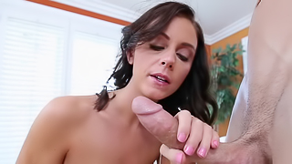 Brunette slut with a big round ass wants to ride a terrific dick