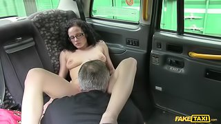 Curly Haired Babe Wants To Be A Porn Star, Cabbie Helps Out
