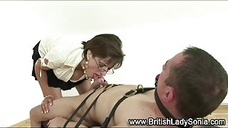 Lady Sonia gives bdsm blowjob