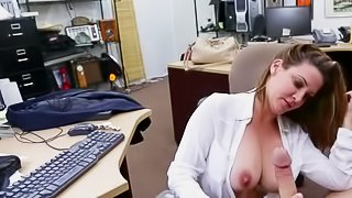 Pawn shop fucking with a hot babe