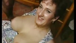 Mature gang bang with hot German moms and young boys