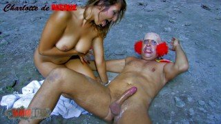 Crazy clown fucks a cute young chick in pussy and ass video trailer